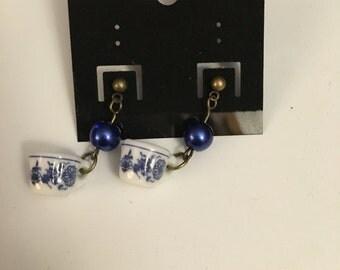 Blue China Earrings