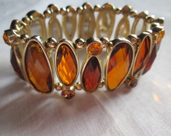 Amber Lucite Expander Bracelet