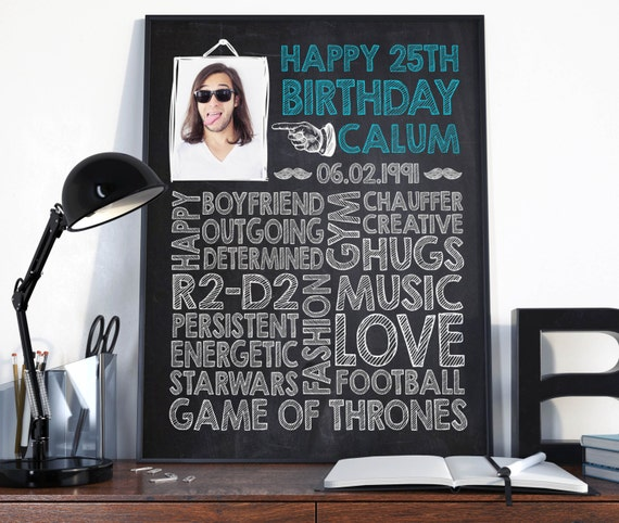 Birthday Gifts For Him In His 20s: 25th Birthday Birthday Gift For Him Birthday Sign Birthday