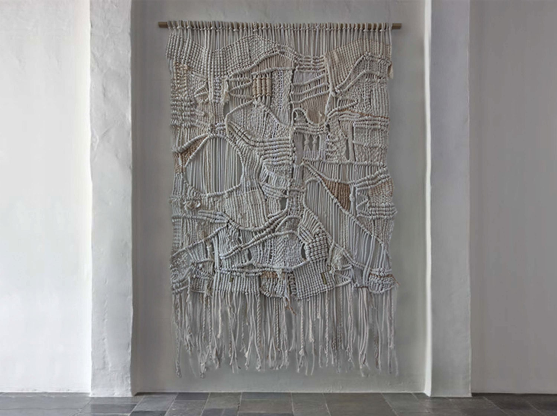Large Macrame Woven Wall Hanging Textile Fiber Art
