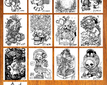 J.Giner Illustration - Custom Mini-Prints (Size A5)