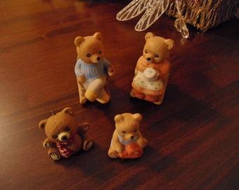 Vintage home interior figurine bears Etsy