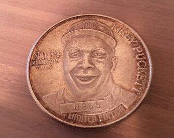 Kirby Puckett limited edition silver coin