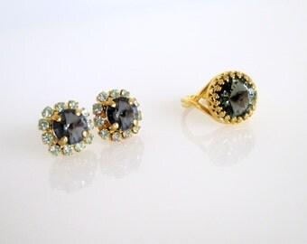 Engagement Ring Black, Engagement Ring, Black Ring, Black Engagement Ring, Unique Engagement Ring, Unique Black Rings, Black And Gold Ring