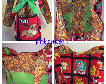 Pokemon reversible tote. Bright and fun. Catch 'em while you can!