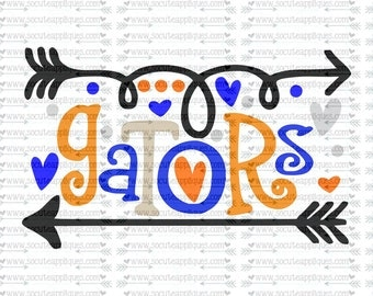 SVG, DXF, EPS Cut file, Gators fun arrows svg,  socuteappliques, SvG Sayings, football svg, football sister svg, football mom svg