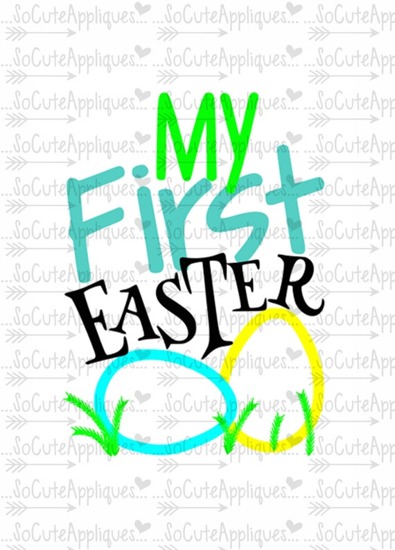 Easter Svg My 1st Easter Svg Christian Svg New Baby Svg