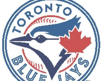 Toronto Blue Jays Logo -- Counted Cross Stitch Chart Patterns, 4 sizes!
