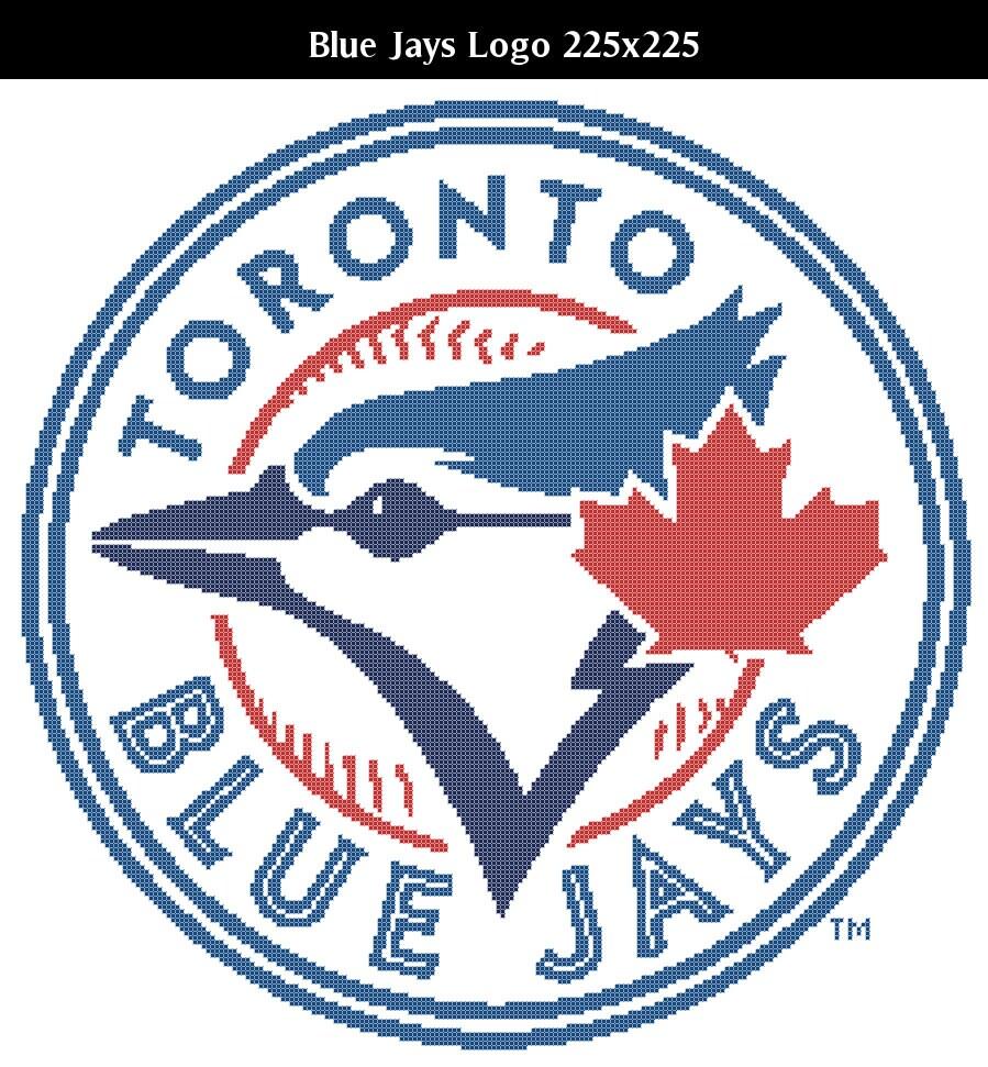 Toronto blue jays christmas ornament - Toronto Blue Jays Logo Counted Cross Stitch Chart Patterns 4 Sizes