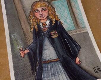 HERMOINE- Original Art, Fan Art, Harry Potter, illustration, painting,