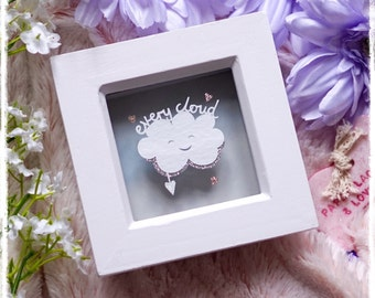 Every Cloud (Has a silver lining) - Miniature Paper Cut