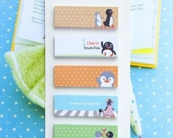 Kawaii Penguin Sticky Note (B) -Penguin Bookmark - Penguin Note pad - Penguin Memo pad - Penguin Index sticky note
