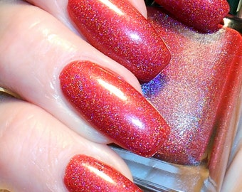 Cardinal Rule - Red linear holographic nail polish