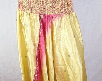 SAROUEL pants yellow red dress, pants harem, Indian harem, hippie place meditation boho chic dress shorts sar119