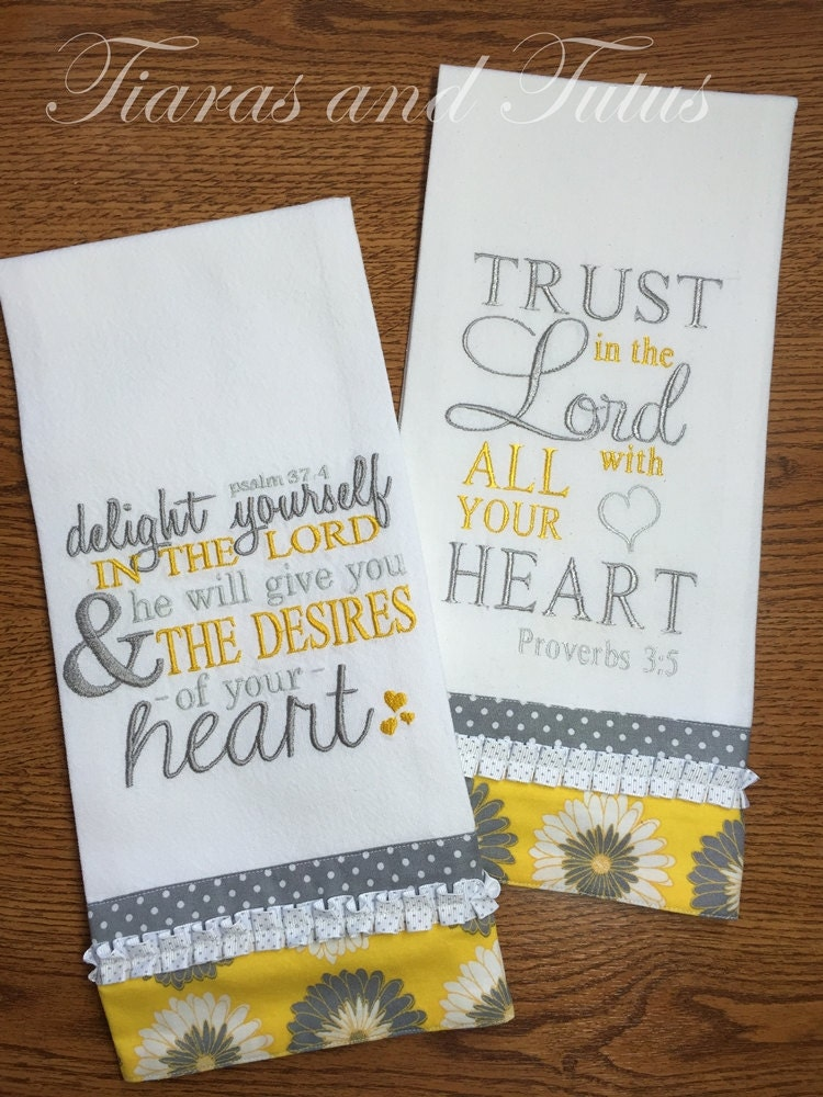 design kitchen towels kitchen towel set embroidered with bible verses gray and 306