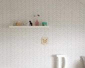 Removable Wallpaper, Herringbone wallpaper, Herringbone, Peel&Stick, Reusable wallpaper, Re-positionable wallpaper, Self adhesive wallpaper