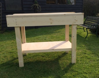 solid wooden  work bench