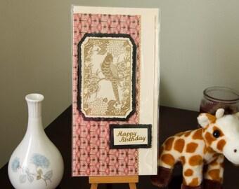 Handmade greetings card, high quality papers, Female #2, Happy Birthday, Oriental