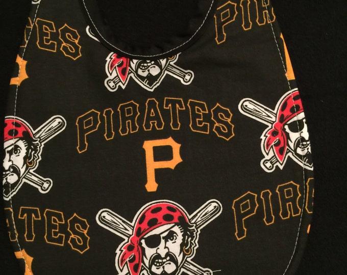 Baby Bib Pittsburg Pirates Fabric Print
