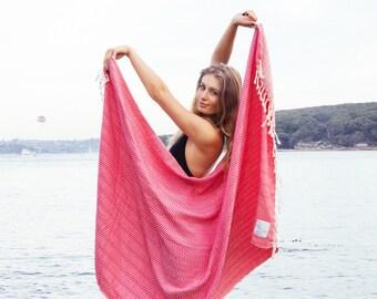 Luxe Traveller Towel - 100% Cotton, Turkish Towel, Beach Towel, Bath Towel and Travel Towel