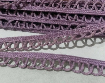 2 Yards PURPLE Red Cream Lace Trim Loop Piping Loop Polyester Lace Trim 1/2 Inch Wide
