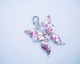 Butterfly necklace, butterfly pendant, butterfly ornament, butterfly pendants, butterfly jewelry, butterfly necklaces, enamel butterfly