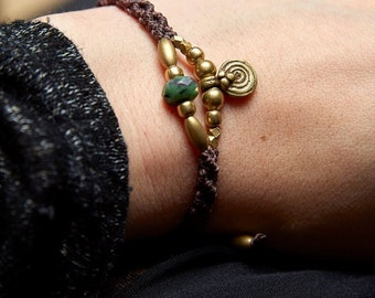 Bracelet with Ruby zoisite