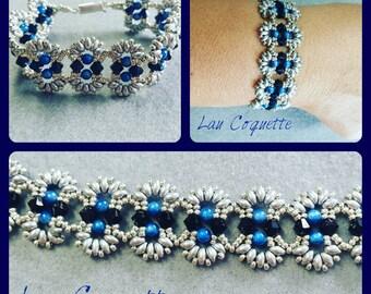 Superduo bracelet & swarovski bracelet