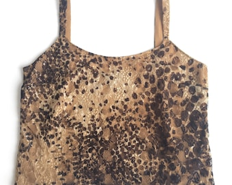90's Leopard Lace Crop Top