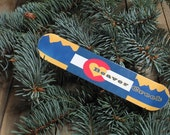Colorado Flag Snowboard Christmas Ornament, Personalized just  for you