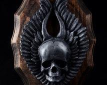 Virgo/Skull/Wings Resin Kit, Finished Bronze/Aluminum Resin Kit