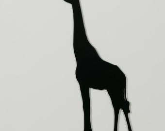 Giraffe 1 Silhouette - Metal Wall Art - With Hanger - (MM3---)