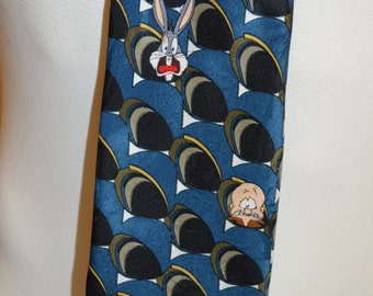 Vintage Looney Tunes Mania Bugs Bunny & Friends Full Length Necktie