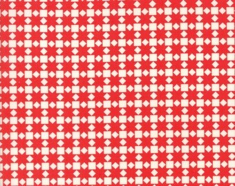 Bonnie and Camille Handmade Red Star Quilt SKU# 55142-21 Quilting Cotton Fabric Moda Fabrics, Hexi Print UK Seller