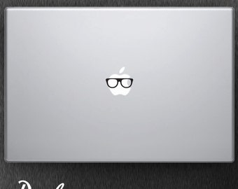 Nerd Glasses / Macbook Decal / Macbook Sticker / Laptop Decal / Laptop Sticker / Car Decal / Window Decal / Wall Decal