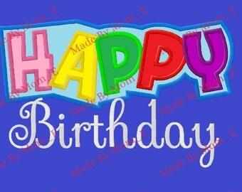 Happy Birthday Patch Script 1-9 Set