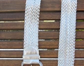 1980's Silver Woven Belt