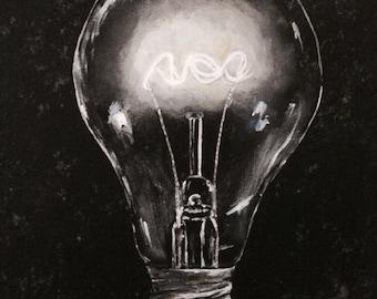 Big Idea....fine art with a twist/lightbulb