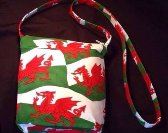 Welsh flags crossover bag