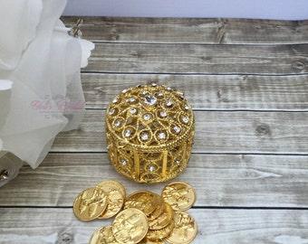 Wedding Arras, Arras de Boda, Unity Coins, Heart Shape Wedding Arras, Silver Wedding Arras, 13 wedding Unity Coins