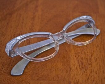 Vintage Silver Cat Eye Frame Circa 1960s