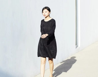 Black cupro dress BonLife