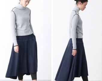 Blue/ Black wool skirts BonLife