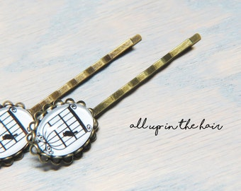 Bird Bobby Pins - Bird Cage Bobby Pins - Bird Hair Pins - Birdcage Hair Pins