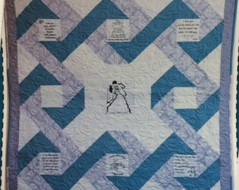 """To Have And To Hold Panel and Pieced Quilt Pattern by Block Party - 44.5"""" square"""