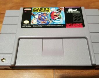 Mario's Time Machine super nintendo snes video game,  Mario's Time machine