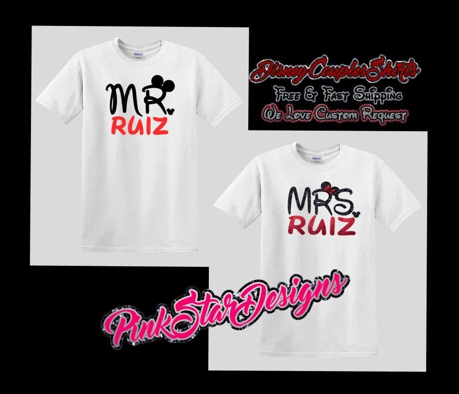 Mr And Mrs Disney Shirt Disney Couples Shirt Couples Disney
