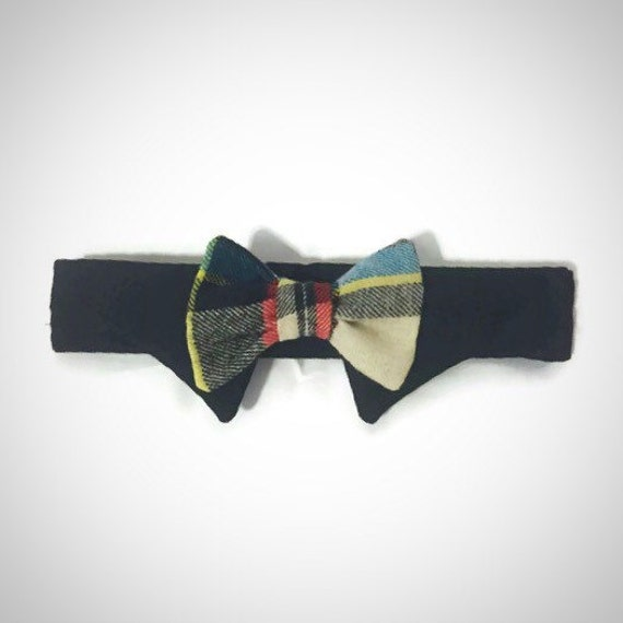 Newsboy Plaid Shirt Collar Bow Tie Set By Snortlife On Etsy