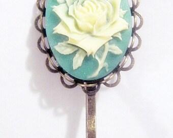 Retro vintage flower rose hair clip gothic romantic rockabilly pin up