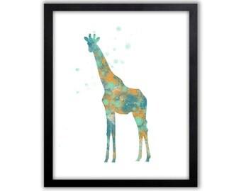 Safari Wall Art, Giraffe Painting, Nursery Ideas, Limited Edition Art Print - AS1001P